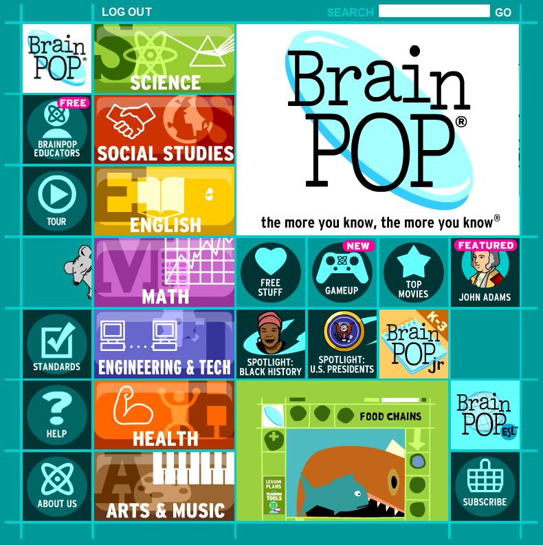 A Universe of Learning. Whatever you teach, whatever your students want to explore, BrainPOP is a launchpad for curiosity.