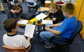 Students working in groups #1