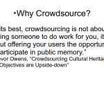 Crowdsourcing #4